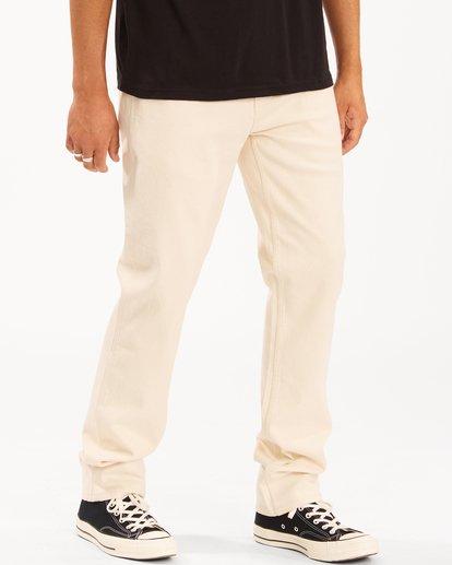 3 Wrangler 73MWOZ Organic Jeans White ABYDP00106 Billabong