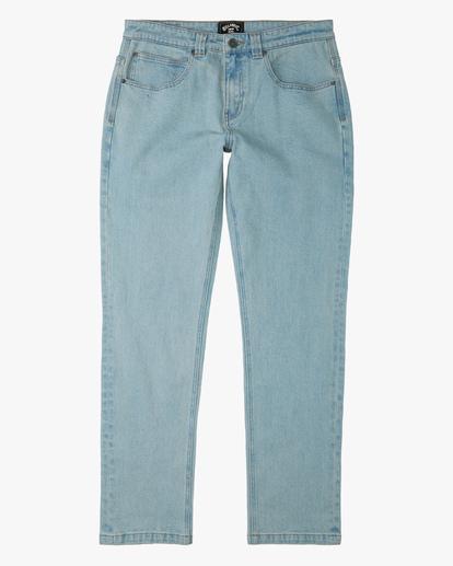 4 73 Slim Straight Jeans Blue ABYDP00107 Billabong