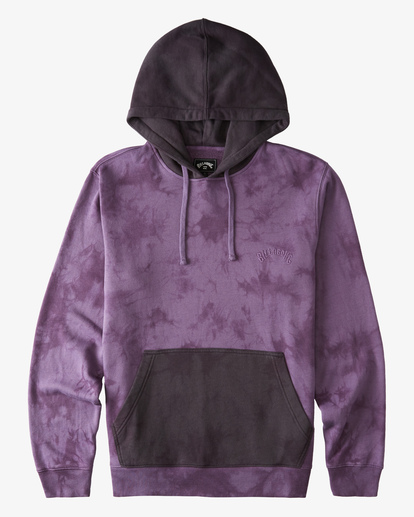 4 Wave Washed Blocked Pullover Hoodie Purple ABYFT00104 Billabong
