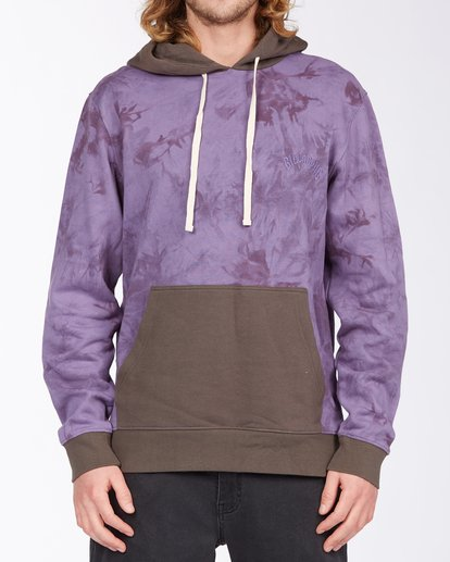 0 Wave Washed Blocked Pullover Hoodie Purple ABYFT00104 Billabong
