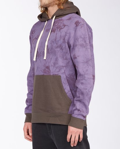 1 Wave Washed Blocked Pullover Hoodie Purple ABYFT00104 Billabong