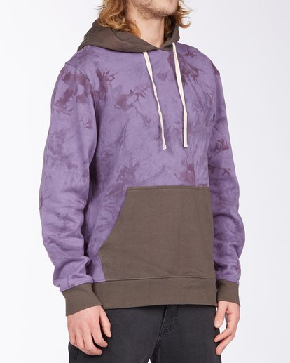 2 Wave Washed Blocked Pullover Hoodie Purple ABYFT00104 Billabong