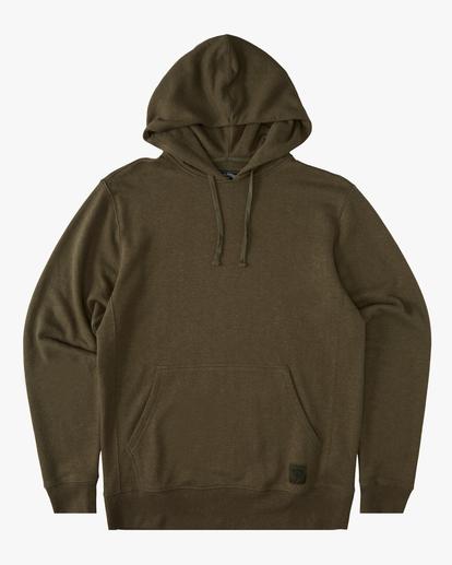 4 A/Div Ventura Hemp Pullover Hoodie Green ABYFT00106 Billabong