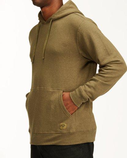 3 A/Div Ventura Hemp Pullover Hoodie Green ABYFT00106 Billabong
