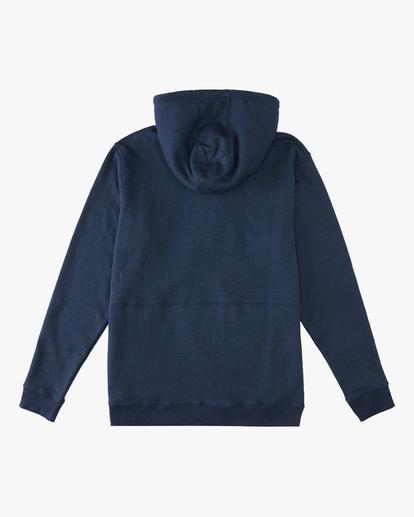 5 Hudson Henley Pullover Hoodie Blue ABYFT00159 Billabong