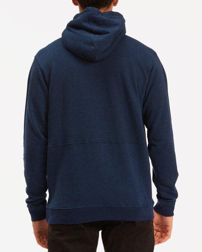 2 Hudson Henley Pullover Hoodie Blue ABYFT00159 Billabong