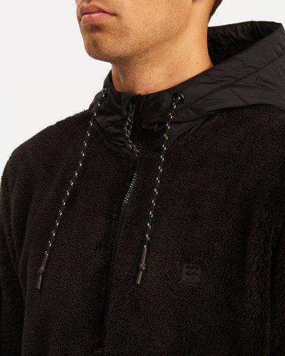 4 A/Div Badger Half-Zip Pullover Hoodie Black ABYFT00169 Billabong
