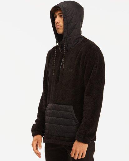 1 A/Div Badger Half-Zip Pullover Hoodie Black ABYFT00169 Billabong