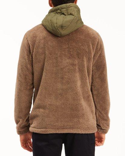 2 A/Div Badger Half-Zip Pullover Hoodie Brown ABYFT00169 Billabong