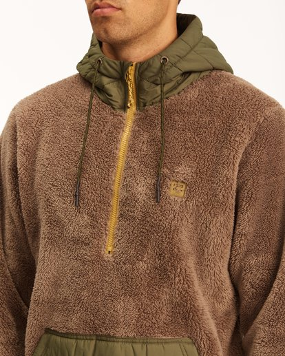 3 A/Div Badger Half-Zip Pullover Hoodie Brown ABYFT00169 Billabong