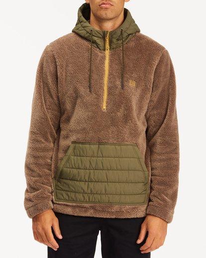 0 A/Div Badger Half-Zip Pullover Hoodie Brown ABYFT00169 Billabong