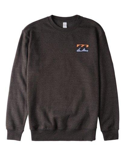 0 Brush Wave Crew Neck Sweatshirt Grey ABYFT00172 Billabong