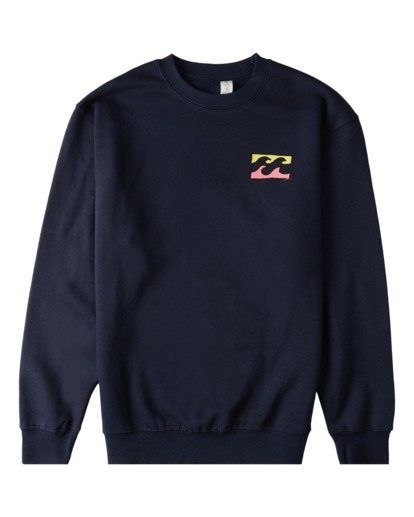3 Brush Wave Crew Neck Sweatshirt Blue ABYFT00172 Billabong