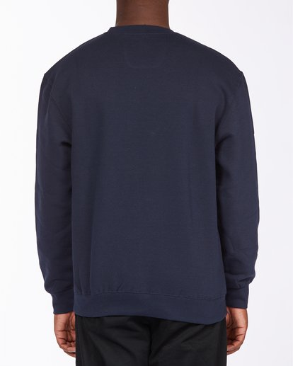 2 Brush Wave Crew Neck Sweatshirt Blue ABYFT00172 Billabong