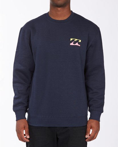 0 Brush Wave Crew Neck Sweatshirt Blue ABYFT00172 Billabong