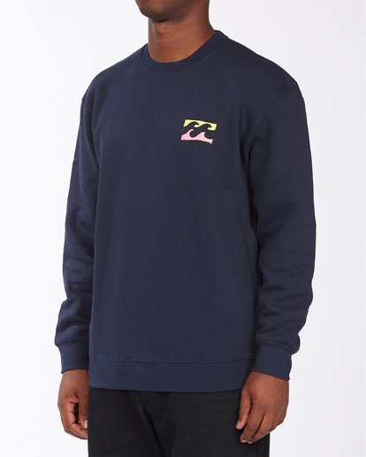 1 Brush Wave Crew Neck Sweatshirt Blue ABYFT00172 Billabong