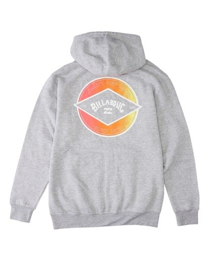 1 Rotor Arch Pullover Hoodie Grey ABYFT00176 Billabong
