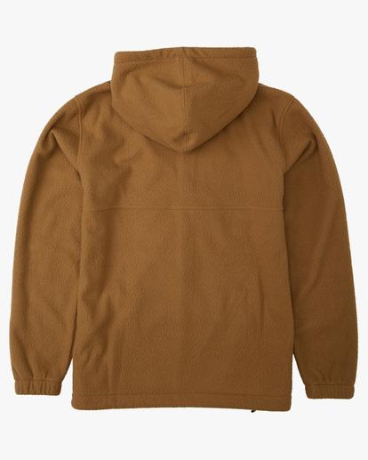 1 A/Div Boundary Zip-Up Sherpa Hoodie Brown ABYFT00185 Billabong