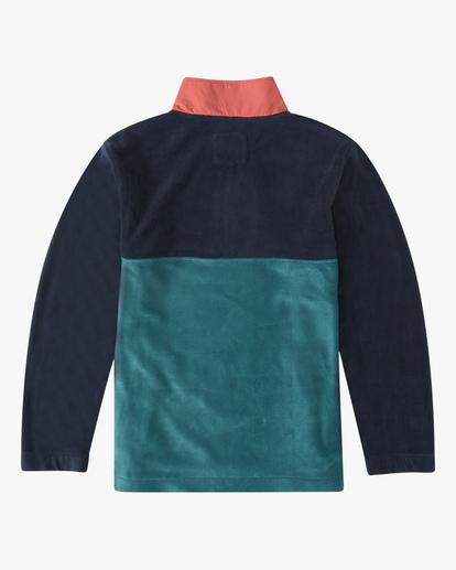 4 A/Div Boundary Lite Half-Zip Mock Neck Fleece Blue ABYFT00187 Billabong