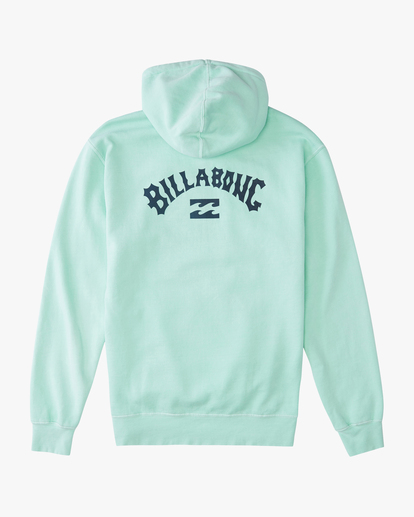 6 Arch Wave Washed Pullover Hoodie Green ABYFT00195 Billabong