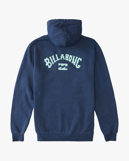 6 Arch Wave Washed Pullover Hoodie Blue ABYFT00195 Billabong