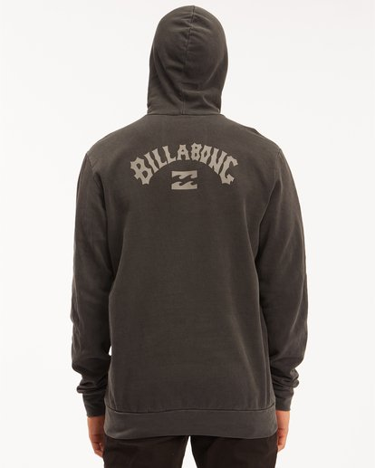 2 Arch Wave Washed Pullover Hoodie Black ABYFT00195 Billabong