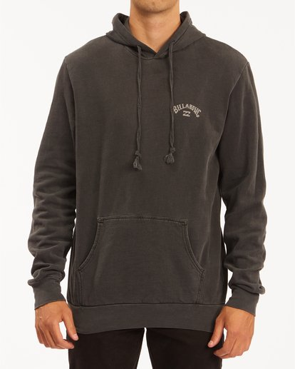 0 Arch Wave Washed Pullover Hoodie Black ABYFT00195 Billabong