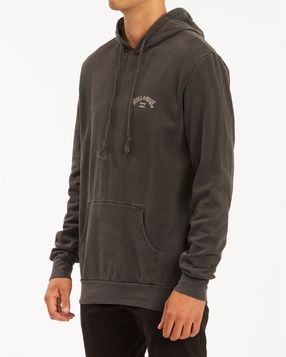 1 Arch Wave Washed Pullover Hoodie Black ABYFT00195 Billabong