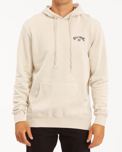 0 Arch Wave Washed Pullover Hoodie Red ABYFT00195 Billabong