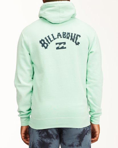 2 Arch Wave Washed Pullover Hoodie Green ABYFT00195 Billabong
