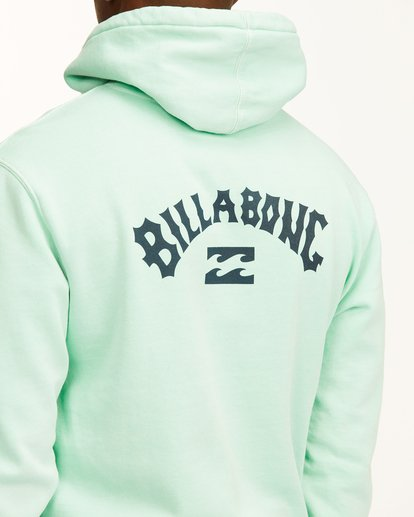 3 Arch Wave Washed Pullover Hoodie Green ABYFT00195 Billabong