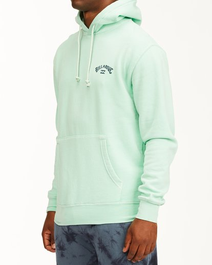 1 Arch Wave Washed Pullover Hoodie Green ABYFT00195 Billabong