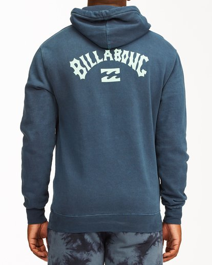 2 Arch Wave Washed Pullover Hoodie Blue ABYFT00195 Billabong