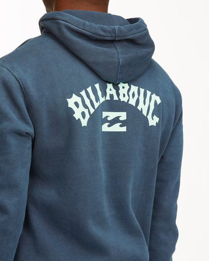3 Arch Wave Washed Pullover Hoodie Blue ABYFT00195 Billabong