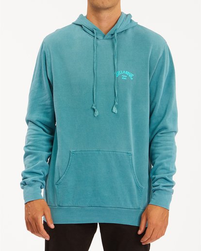 0 Arch Wave Washed Pullover Hoodie Blue ABYFT00195 Billabong