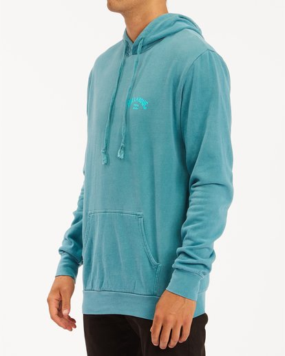 1 Arch Wave Washed Pullover Hoodie Blue ABYFT00195 Billabong
