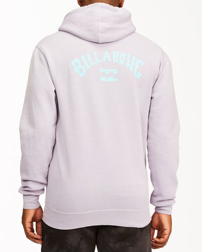 2 Arch Wave Washed Pullover Hoodie Purple ABYFT00195 Billabong