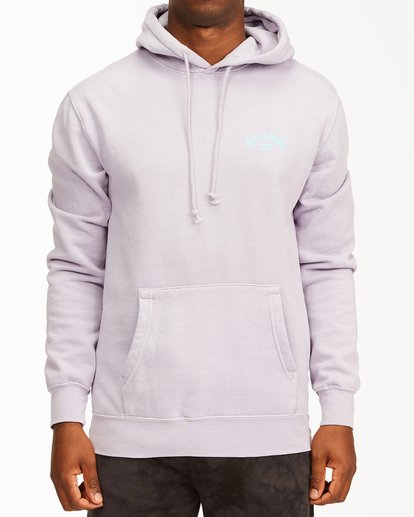 0 Arch Wave Washed Pullover Hoodie Purple ABYFT00195 Billabong