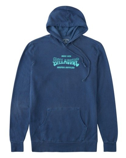 0 Surf Supply Wave Washed Pullover Hoodie Blue ABYFT00196 Billabong