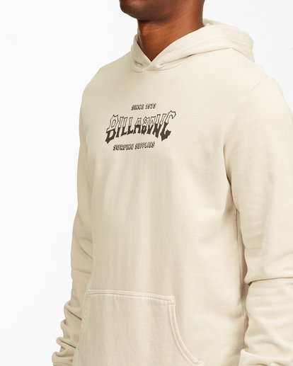 3 Surf Supply Wave Washed Pullover Hoodie Red ABYFT00196 Billabong