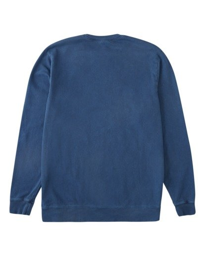 5 Stacked Wave Washed Crew Neck Sweatshirt Blue ABYFT00198 Billabong