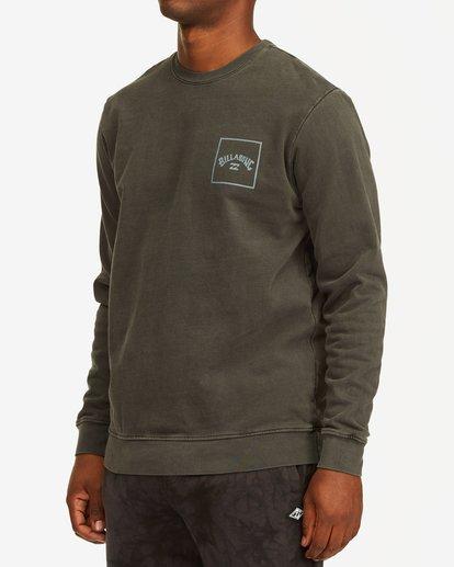 1 Stacked Wave Washed Crew Neck Sweatshirt Black ABYFT00198 Billabong