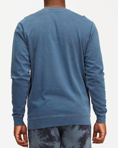 2 Stacked Wave Washed Crew Neck Sweatshirt Blue ABYFT00198 Billabong