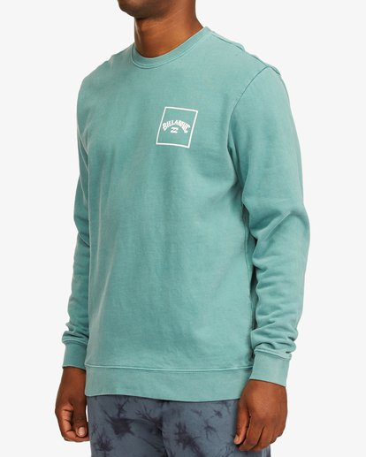 1 Stacked Wave Washed Crew Neck Sweatshirt Blue ABYFT00198 Billabong