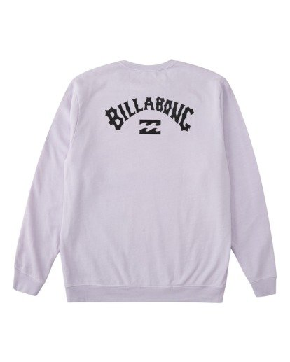 6 Arch Wave Washed Crew Neck Sweatshirt Purple ABYFT00199 Billabong