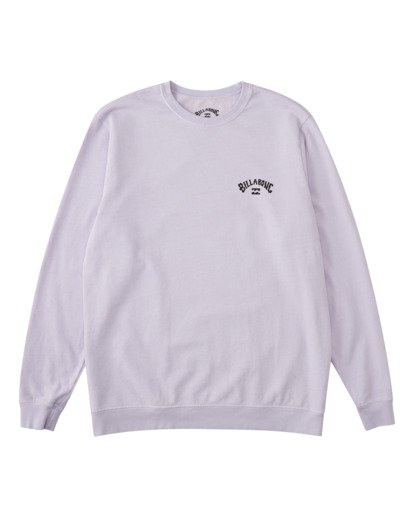 5 Arch Wave Washed Crew Neck Sweatshirt Purple ABYFT00199 Billabong