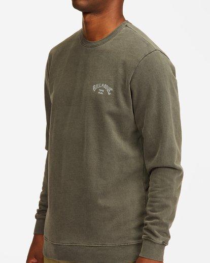4 Arch Wave Washed Crew Neck Sweatshirt Black ABYFT00199 Billabong