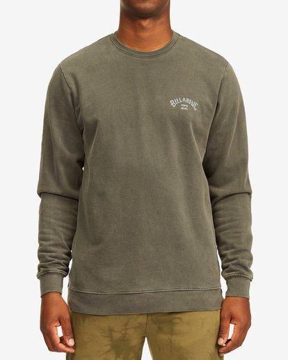 0 Arch Wave Washed Crew Neck Sweatshirt Black ABYFT00199 Billabong