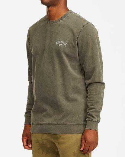 1 Arch Wave Washed Crew Neck Sweatshirt Black ABYFT00199 Billabong