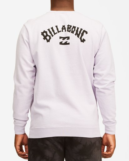 2 Arch Wave Washed Crew Neck Sweatshirt Purple ABYFT00199 Billabong